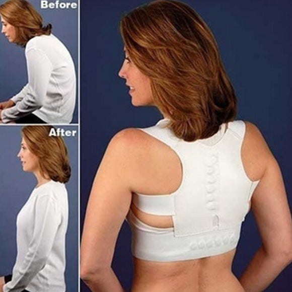 Adjustable Vest Prevent Slouching Posture Correction Belt Shoulder Support Back Lumbar Magnetic Health Care Sitting Posture