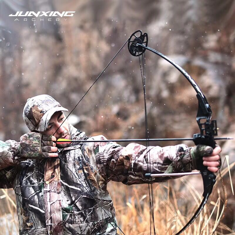 Powerful Compound Bow 30-45 lbs  Junxing M183 model Adjustable Outdoor Archery Compound Bow Hunting Shooting Fishing Accessories