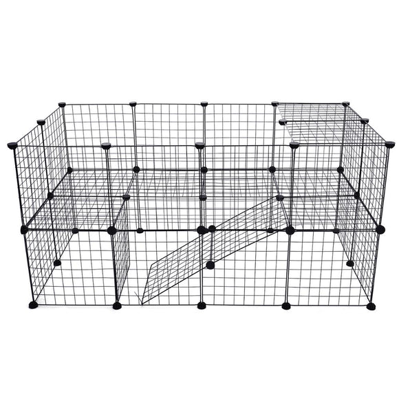 DIY Pet Fences Dog Cage Playpen Iron Net Cat Puppy Kennel House Animal Bird Rabbit Guinea Pig Playing Sleeping Room