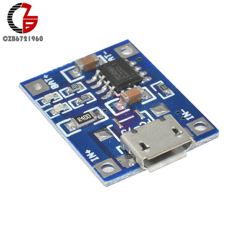 2//5//10Pcs 5V 1A Micro USB 18650 Lithium Battery Charger Board With Protection