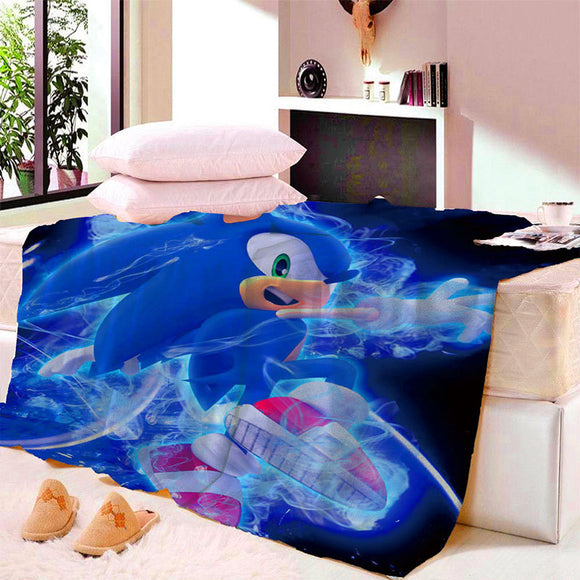 Anime Sonic Adventure Game Blanket Mat Tapestry Soft Wall Bedspread Beach Towel Mat Blanket Table Beach Towel Cosplay