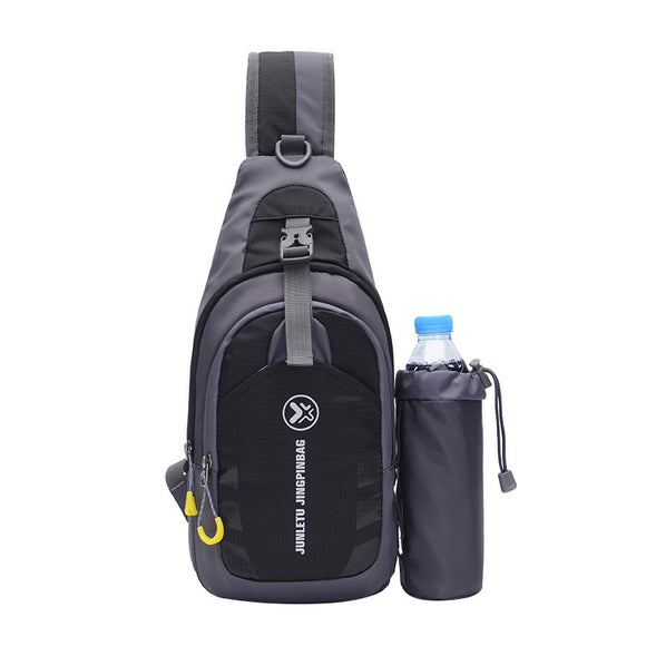 Sling Bag Chest Shoulder Backpack Crossbody Bags With Bottle Holder For iPad Tablet Outdoor Camping Hiking