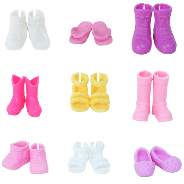 5Pairs Fashion Shoes Boots For  Sister Kelly Eva Doll Kids Gift CYC