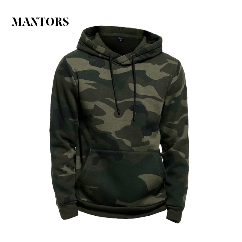 Camo Hoodies Men Military Pocket Hooded 2019 Autumn Winter Army Green Sweatshirt Mens Camouflage Fleece Hoodie Male Hip Hop