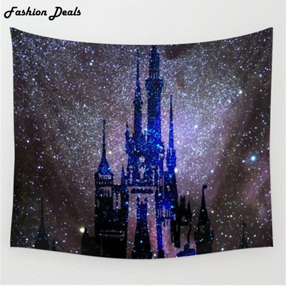 Indian Mandala Tapestry Starry Sky Castle Hanging Wall Tapestry Boho Bed Sheet Beach Towel Yoga Mat Blanket Table Cloth M/L Size