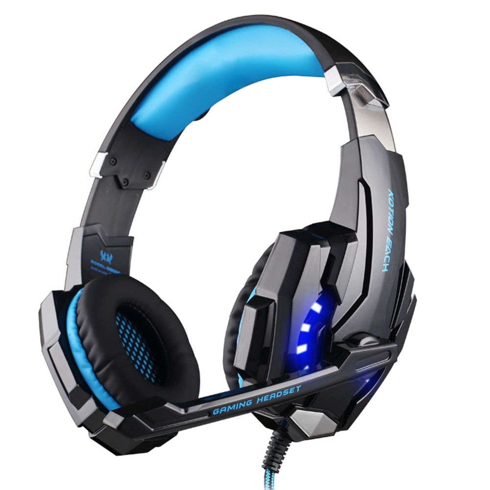 KOTION EACH G9000 Gaming Headphone Headset Earphone 3.5mm Game With Mic LED Light For Laptop Tablet/Mobile Phones/iPad/PC/laptop