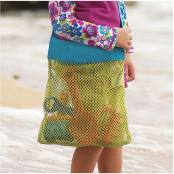 Children Sand Away Beach Mesh Bag Applied Enduring Kids Beach Indoor Toy Clothes Towel Plaything Bag Baby Toy Collection