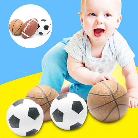 Hot Mini Inflatable Rubber Ball Rugby Football Basketball Kids Outdoor Sports Toy