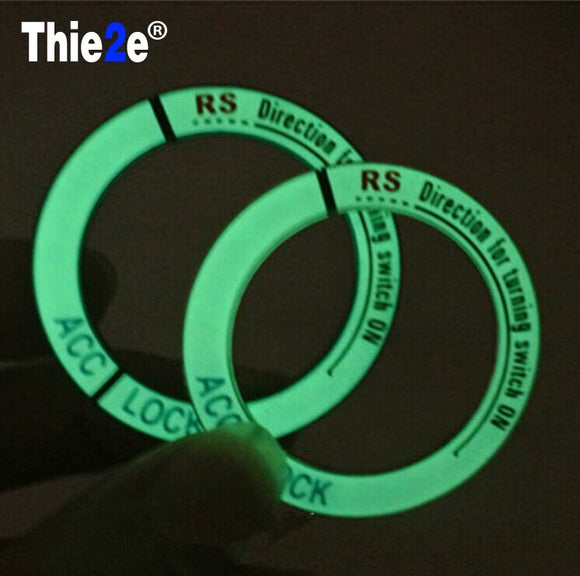 Luminous Aluminium key ring cover stickers car styling FOR Volkswagen VW Passat b5 b6 Bora POLO GOLF 6 4 5 Jetta MK4 MK5 MK6 RS