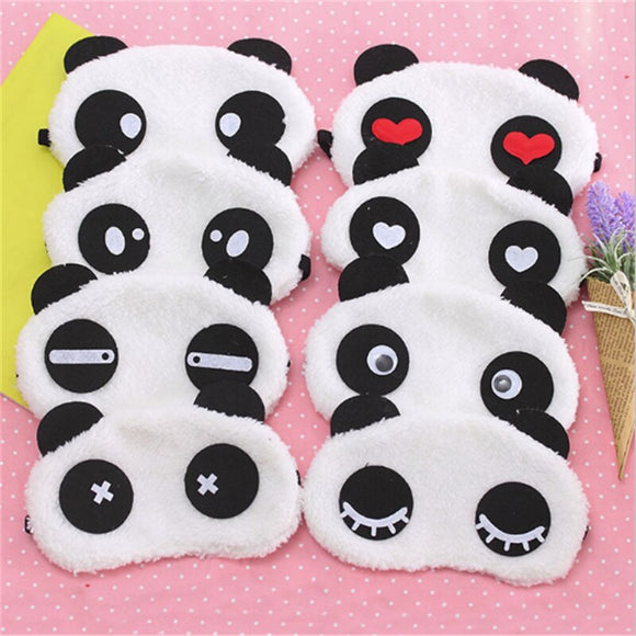 New Cute Face White Panda Eye mask Eyeshade Shading Sleep Cotton Goggles Eye mask sleep mask Eye Cover health Care Makeup Set