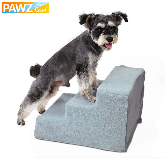 Pet Stair 3 Steps Soft Removable Cover Ladder For Small Dog Cat Animals Detachable Multi-purpose Stair For Pet Bed Sofa Car Seat
