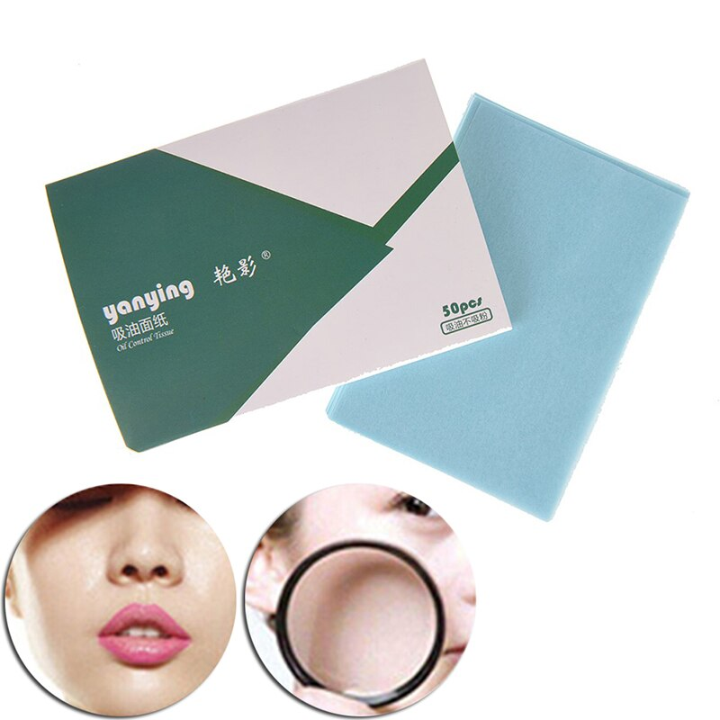 50pcs/Box Facial Oil Blotting Sheets Oil Absorbing Papers Oil Control for Man/Woman Face Skin Care Tool