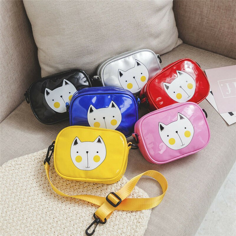 Crossbody Bags For Girls Kids Girl Cute Cartoon PU Leather Satchel Chest Bag Coin Purses Gift
