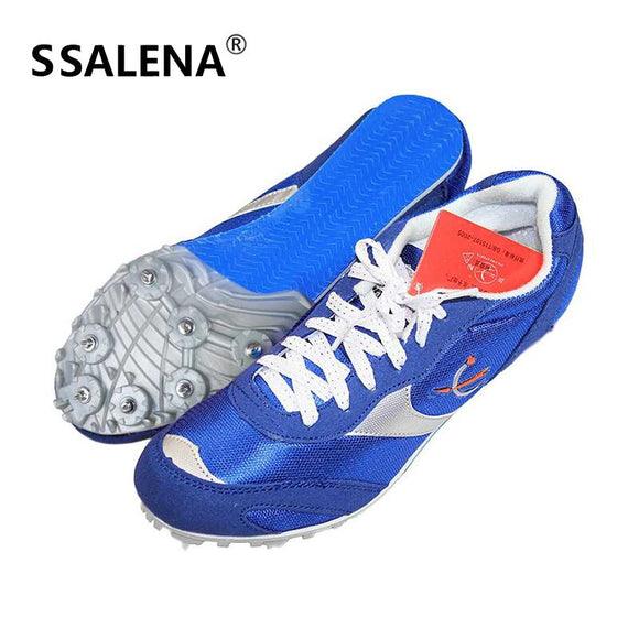 Men Long-Jump Jumping Shoes Spikes Student Track And Field Shoes For Women Breathable Sneakers Size 35-42 AA11101