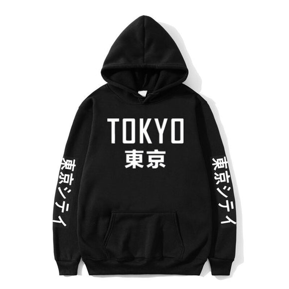 2019 New Fashion Brand Men's Hoodies Harajuku Hoodies Tokyo City Printing Pullover Sweatshirt Hip Hop Streetwear 3XL Plus Size