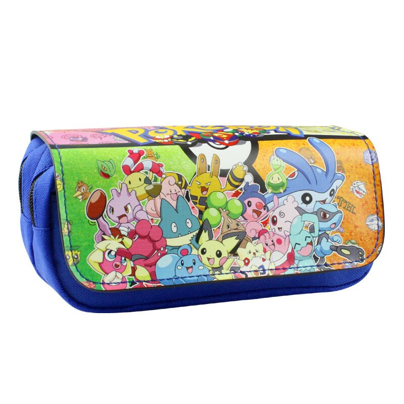 2017 New Arrival Pokemon Pencil Bags Cartoon Pocket Monster Pen Case Pouch for Kids Stationery Holder Leather Cosmetic Bag Purse