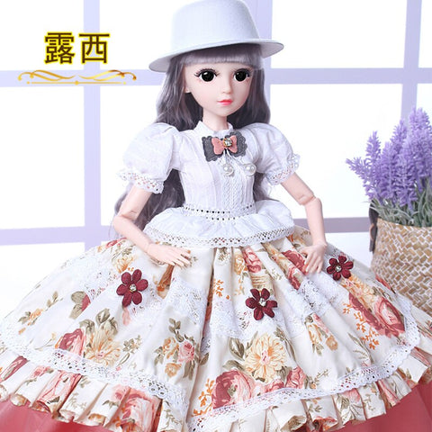 LARGE 60CM DOLL WITH HAIR PINK COAT OUTFIT HAT GIRLS BIRTHDAY PARTY TOY GIFT