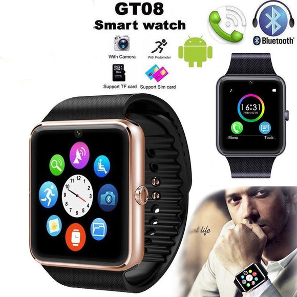 GT08 Smart Watch Bluetooth Children Men Kids Watch Phone SIM Card Camera Clock Bluetooth Smartwatch Connect For IOS Android
