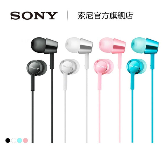 SONY  OFFICIAL-authorised MDR-EX155AP in-ear earphone light color free shipping