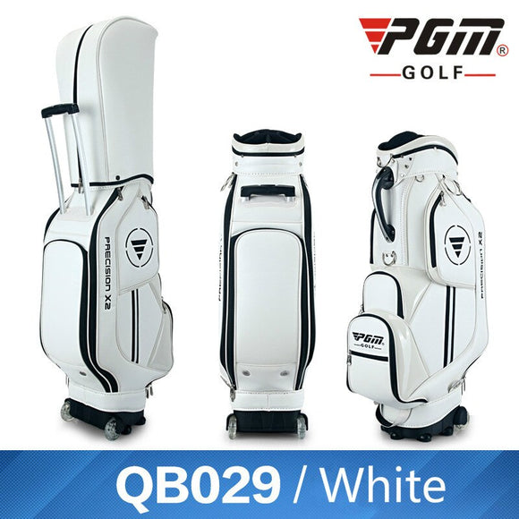 Pgm Golf Standard Bag High Quality Pu Leather Waterproof Golf Bags With Wheels Clubs Ball Package Large Capacity A7042
