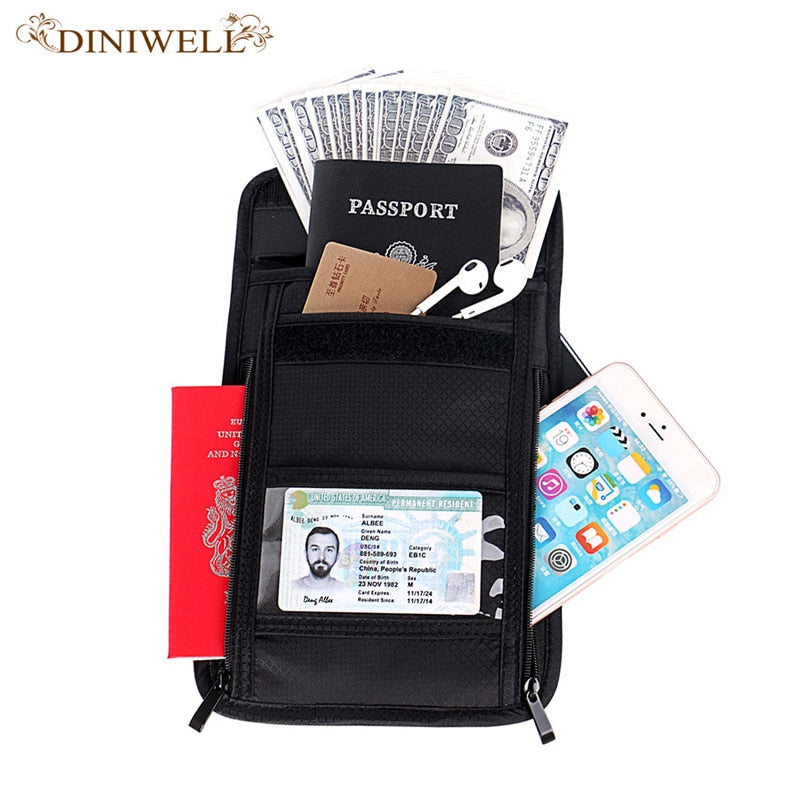 Credit Card Holder Female Male Waterproof Nylon Bank Card Neckband Card Bus ID Holder Candy Color ID with Lanyard ID Card