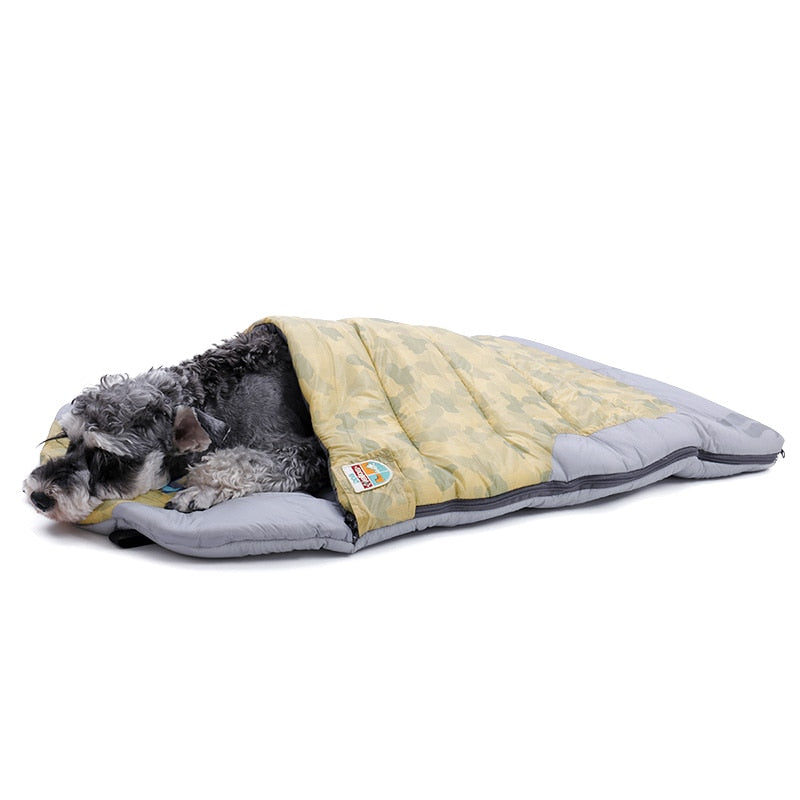 Pet Sleeping Bag Multi-functional Wind-proof Water-proof Outdoors Travel Dog Cat Bed 3 In 1 Collapsible Durable Pet Cushion Mat