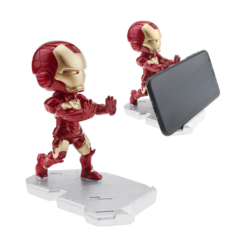 Super Hero Avenger Iron Man Mobile Phone Holder Desk Stand For iPhone Xiaomi Samsung huawei Cartoon smart Phone Stand Holder