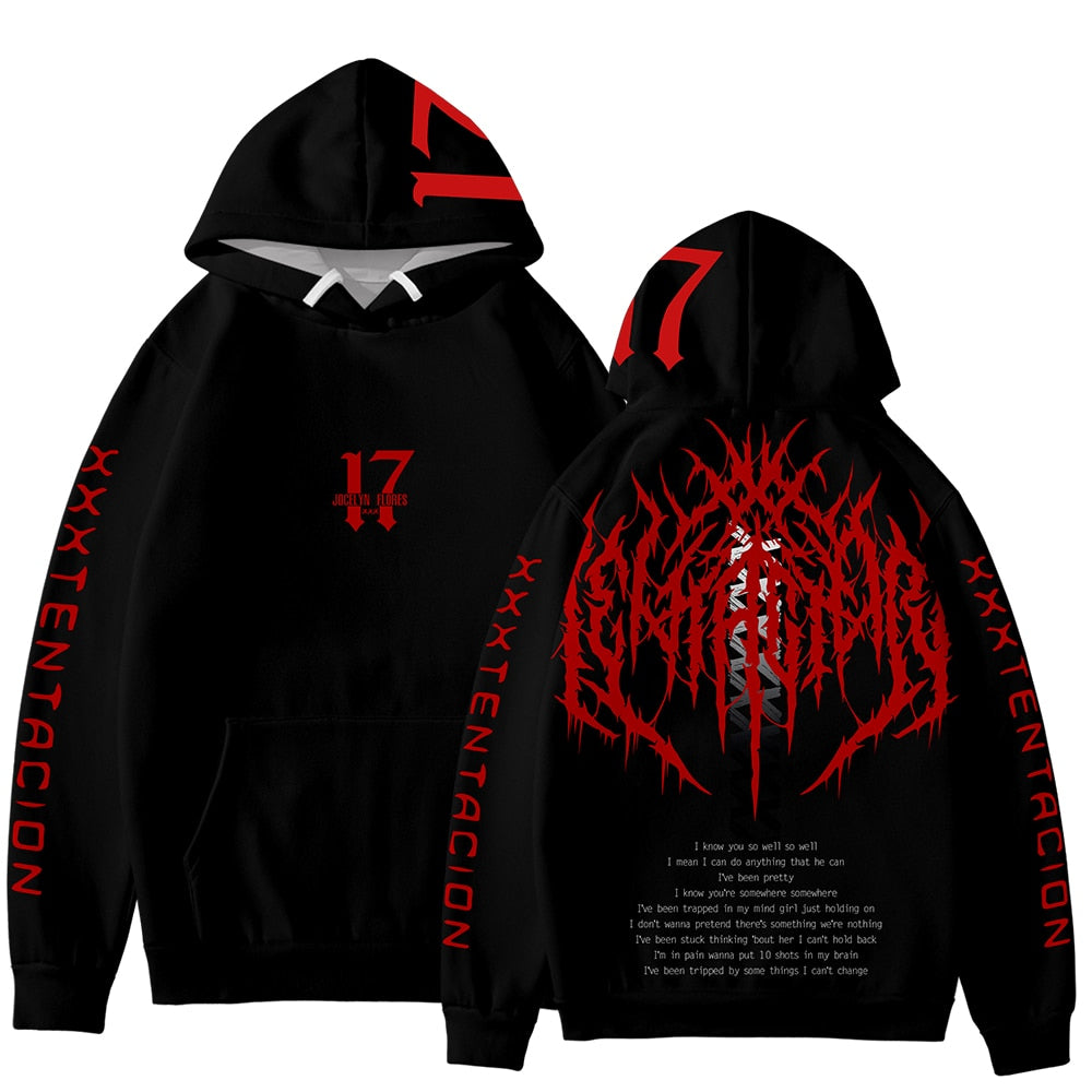 Frdun Tommy 3D XXXTENTACION So Cool Hoodies Sweatshirt Fashion Soft Winter/Autumn Hoodies New Kpop Hip Long Sleeve Sweatshirt