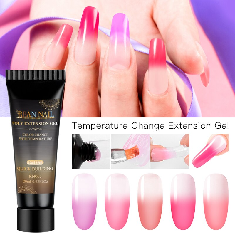 RBAN NAIL Acrylic Poly Extension Building UV Gel Nail Tips UV Builder Soak Off Nail Art Gel Polish Varnish Manicure Design