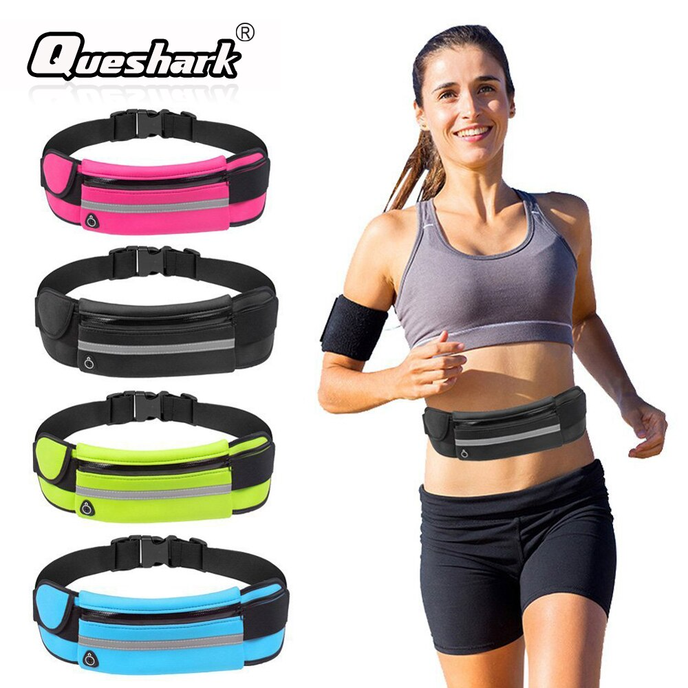 Running Waist Bag Sport Fanny Packs For Music With Headset Hole-Fits Smartphones Sports Bags Fitness Belt Chest Pouch Water Bags