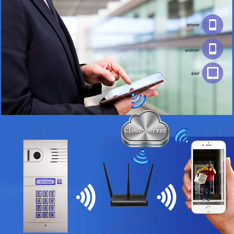 IP Video Door Phone 3G/4G Wireless WiFi IP intercom system,remotely unlock door by smartphone/tablets,wireless intercom system