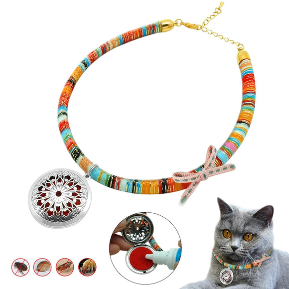 Dog Cat Flea Collar Anti Mosquito Lice Adjustable Dog Puppy Cat Kitten Collars Pet Necklace Outdoor Insecticidal