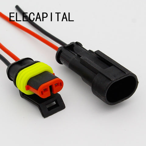 2Pin Way Sealed Automotive Waterproof Electrical Wire Auto Connector Plug  SG