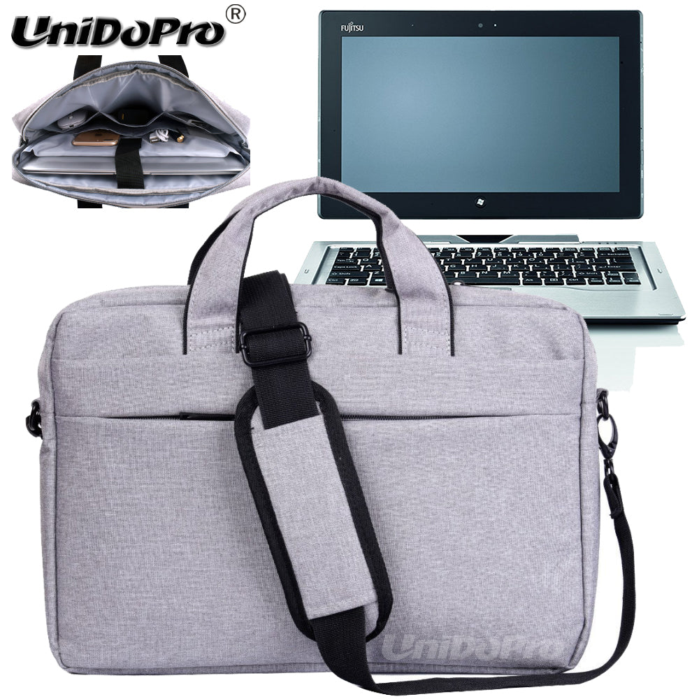 UNIDOPRO Waterproof Messenger Shoulder Bag Case for Fujitsu Stylistic Q702 11.6in Spin 2-in-1 Tablet Sleeve Cover