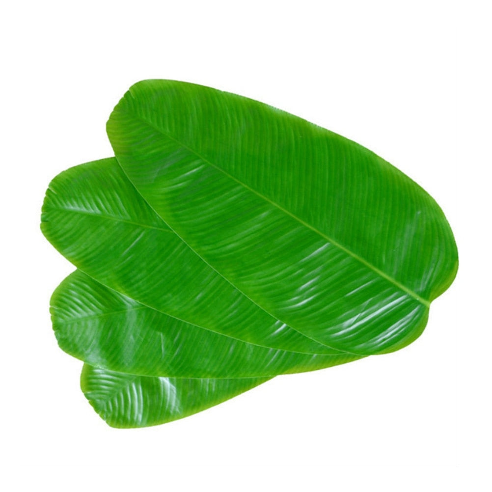 1/10 pcs Simulation Leaves Banana Leaves Kitchen Placemat EVA Dining Table Mat Non-slip Pad Waterproof Disc Pads Coasters Decor