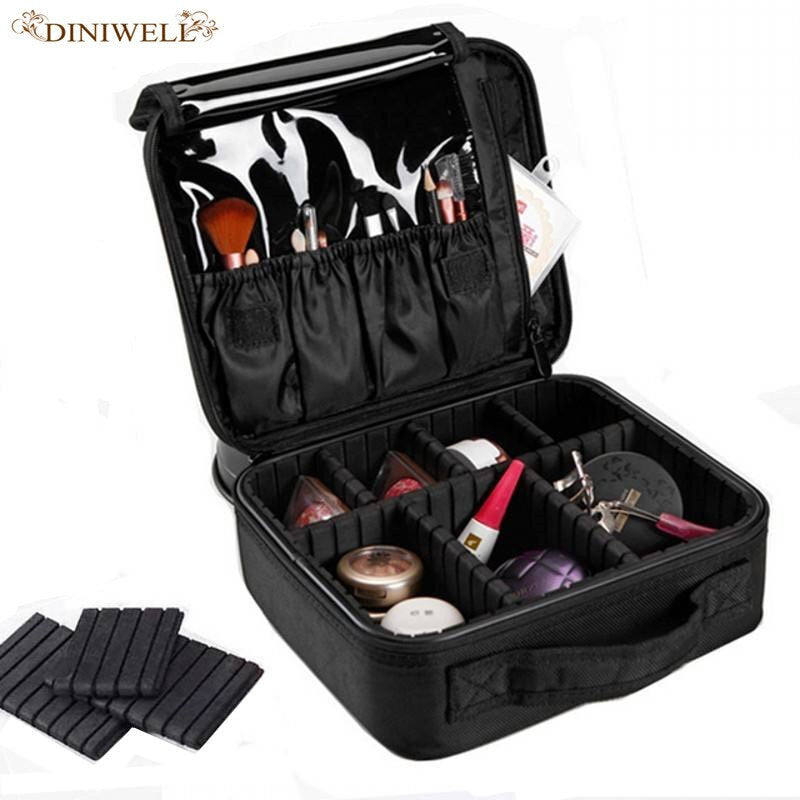DINIWELL Brand Ladies High Quality Waterproof Professional Beauty Zipper Portable CosmeticBag Cosmetic Box Health Organize