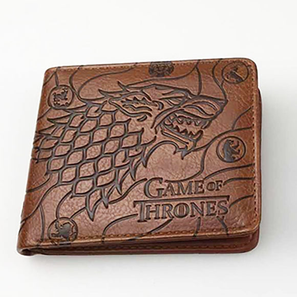 Hot Selling Games of Thrones Wallet Movies Ice Fire Song Power Game PU Leather Embossed Purse Card Money Holder Bag Men Wallets
