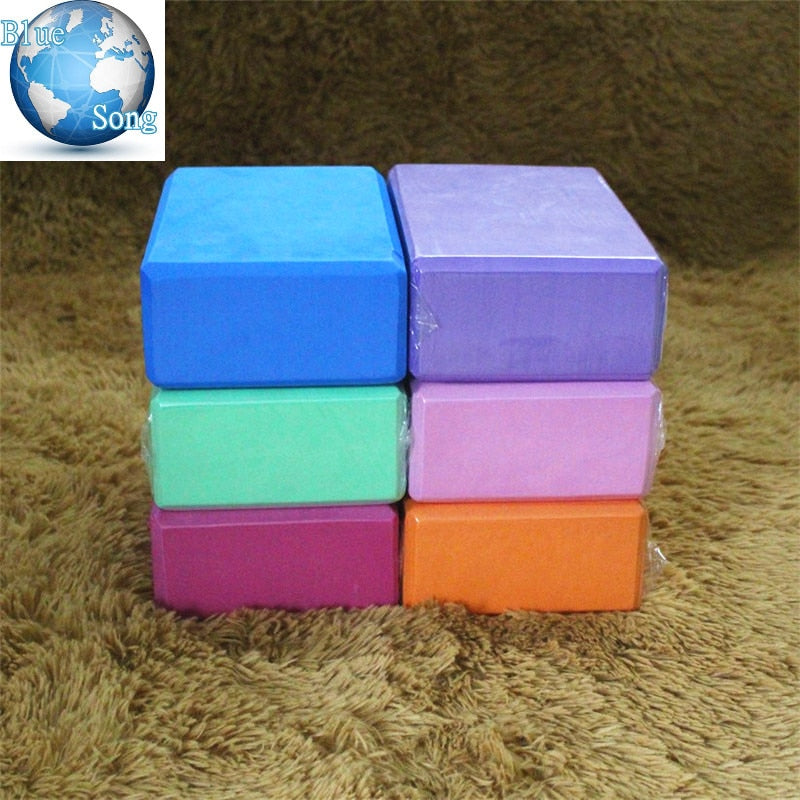 Blue Song brand Yoga novice Eco Products EVA Yoga Blocks Bricks Foaming Foam Home Exercise Fitness Health Gym Practice Tool