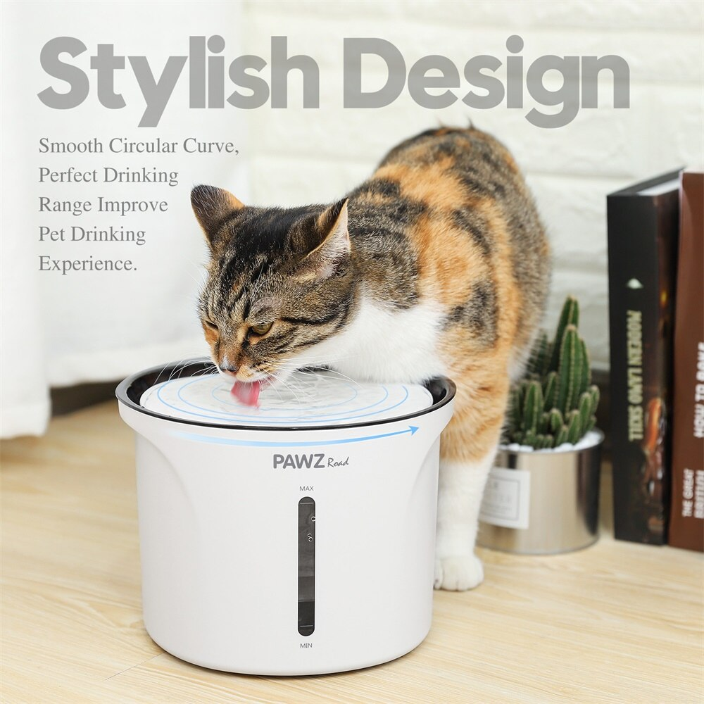 EU Plug 3L Automatic Dog Cat Water Fountain With Filter Electric Dog Cat Pet Drinker Bowl Pet Drinking Fountain Dispenser