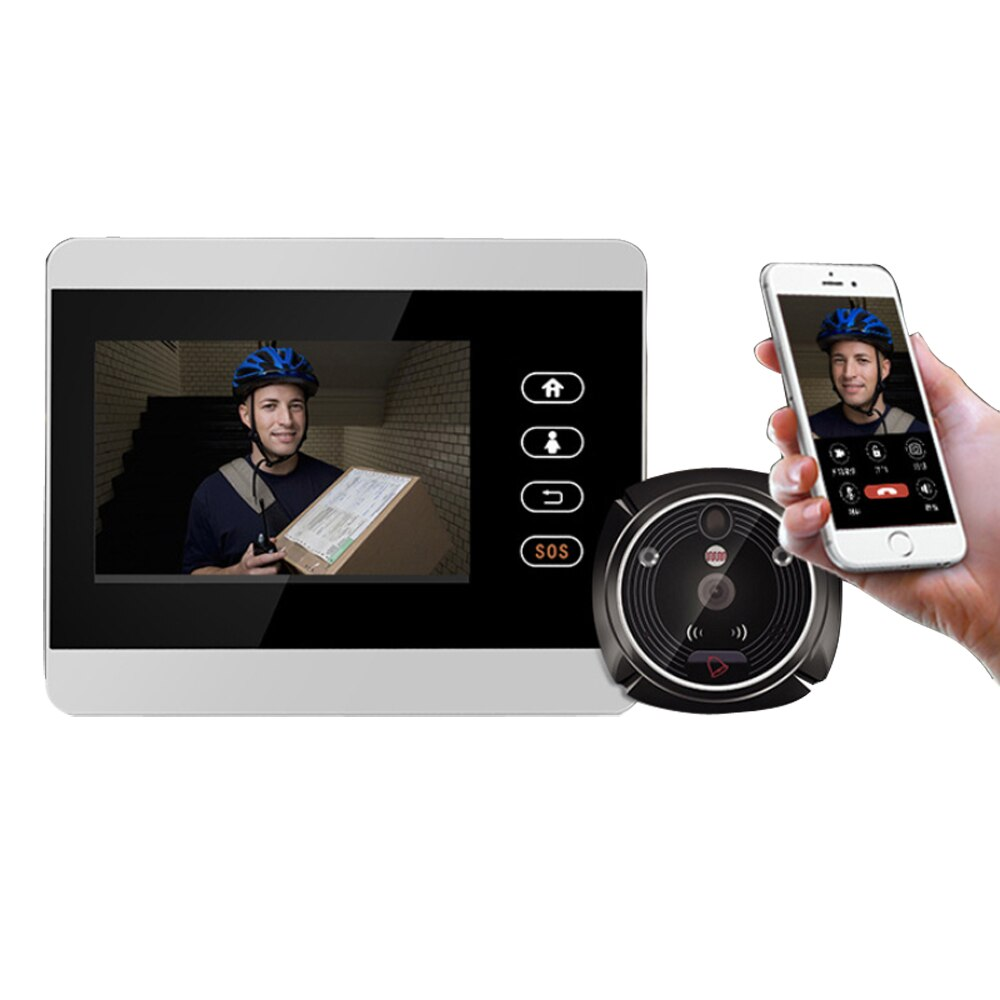 4 inch LCD Screen Motion Detection Door Peephole Camera Photo Video Peephole Viewer Door Camera Night Vision