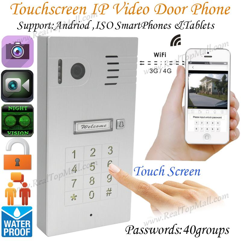 High Quality Touch Screen WiFi Wireless Video Door Phone System Remote Control IP Camera Intercom Smart Doorbell