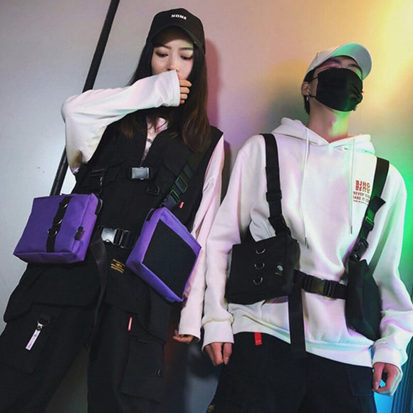 Unisex Fashion Rig chest pockets Hip hop Street Function Tactical Chest Bag Adjustable Shoulder Bag Skill and tactical package