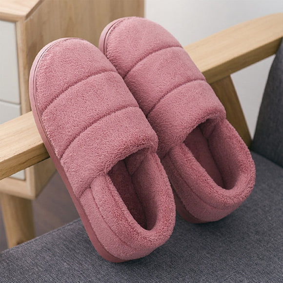 Winter women slippers Plus size 42-44 Suede Package Warm Indoor shoes for girls Anti skid Wear resistant House slippers women
