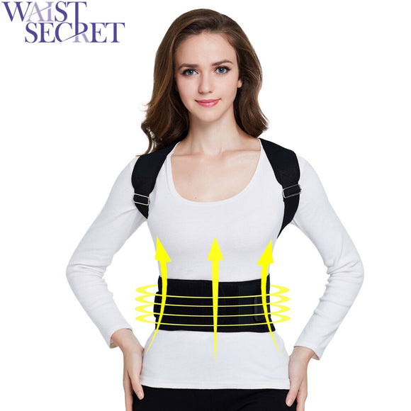 WAIST SECRET Adjustable Posture Corrector Clavicle Brace Belt Back Posture Correction Women Shaper Health Care Back Lift Belt