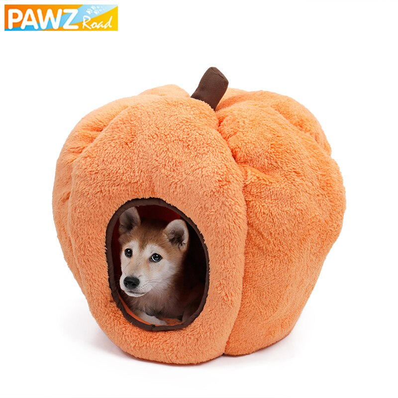 Pet House For Small Medium Animals Soft Breathable Cute Pumpkin Dog Bed Cat Nest Festival Gift For Halloween honden mand Bed Pet