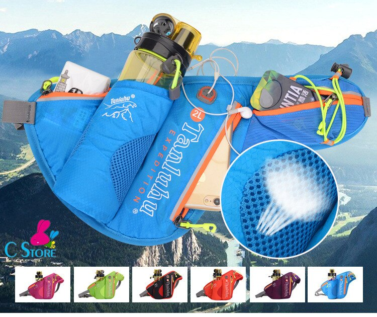 FreeShipping Nylon Breathable Running Marathon Bag Sports Waist Pack Outdoor Climbing Kettle Bag Gym Chest Pack For Men Women