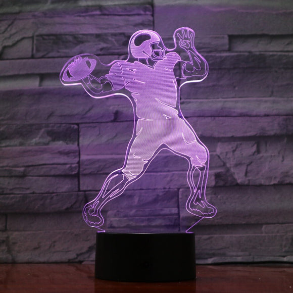 Rugby Player 3D Lamp 5V USB LED Night Lamp Acrylic Lava Lamp Rugby Deco Nightlight Best Nice Gift for Football Fan Drop Shipping