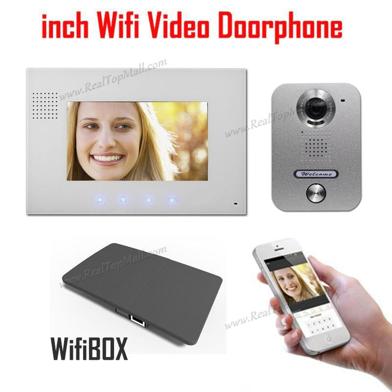 Wireless WiFi IP Video Doorphone Metal Waterproof HD Camera Video Doorbell Intercom System with 7 inch LCD Monitor 700TVL