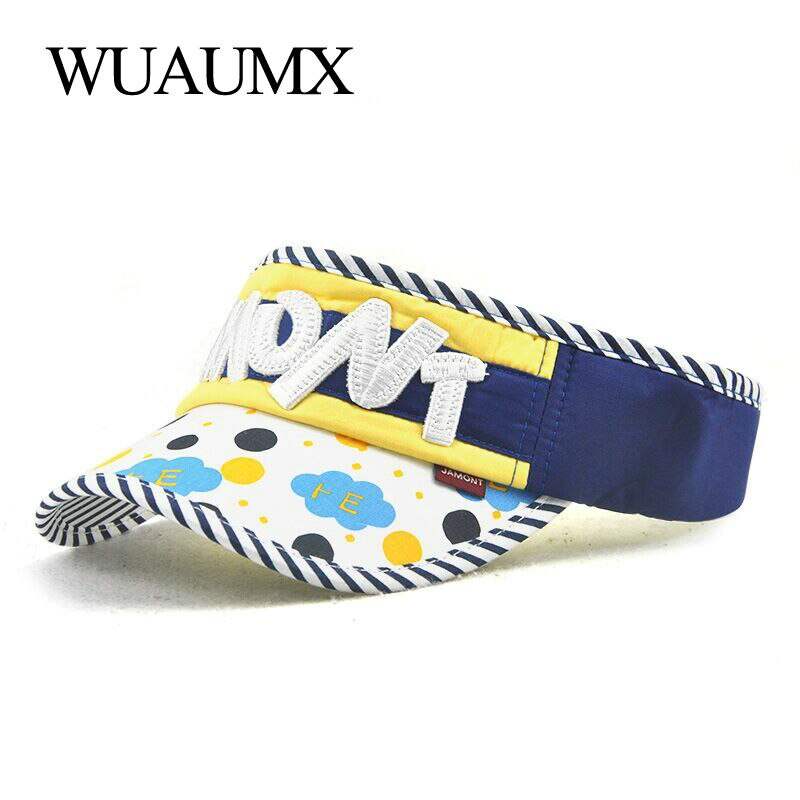 Wuaumx Summer Baseball Cap For Children Boys And Girls Cotton Empty Top Cap No Top Tongue Cap Fitted Snapback Hat Baby Casquette