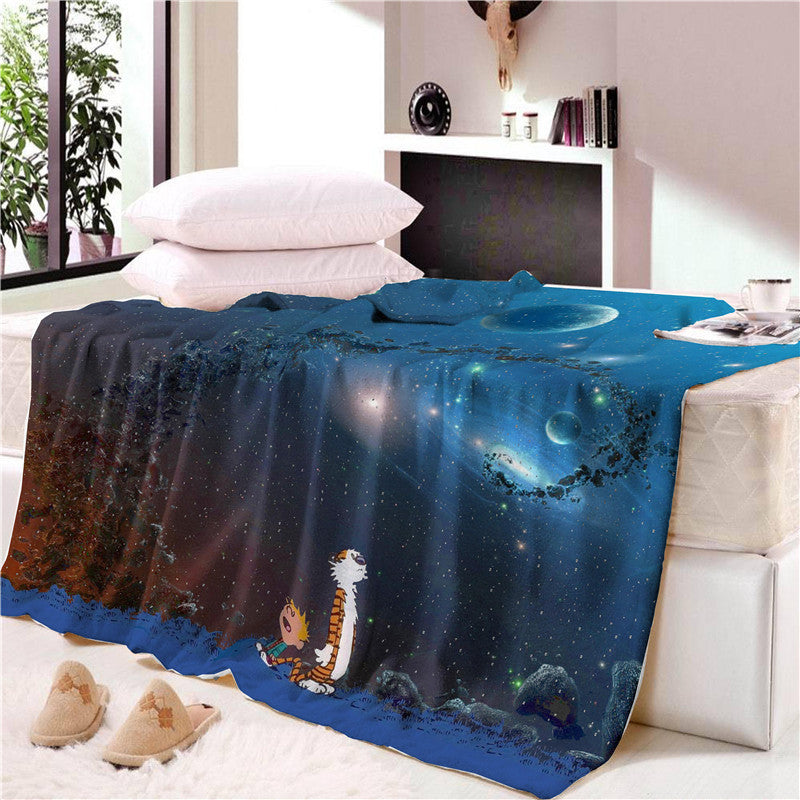 Cartoon Little Prince Space Moon Blanket Child Mat Tapestry Soft Wall Bedspread Beach Towel Mat Blanket Table Beach Towel